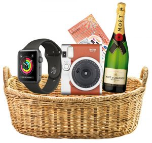 hamper with unboxing draw prizes