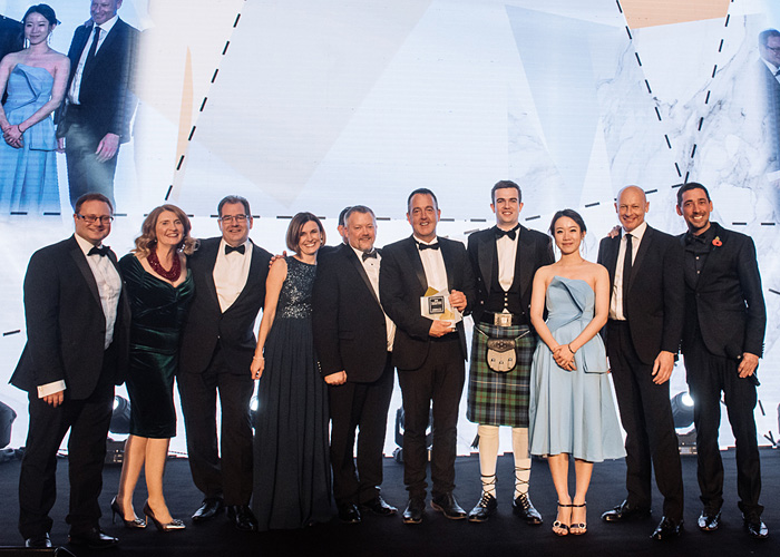 uk packaging awards the macfarlane packaging and peak scientific teams with the supply chain of the year award