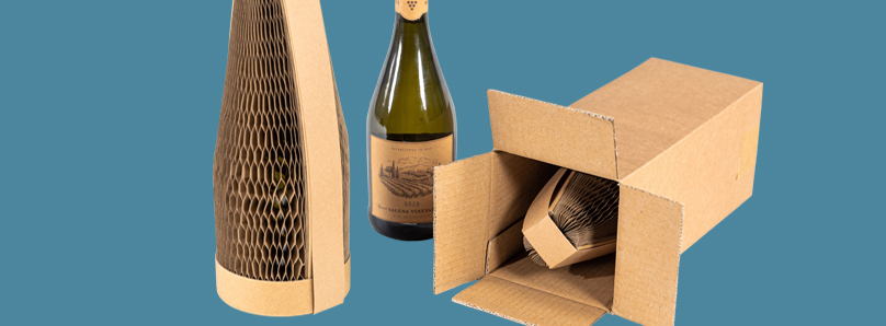 An eco-friendly way to ship glass bottles
